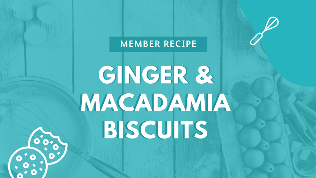 Kevin's Ginger & Macadamia Biscuits